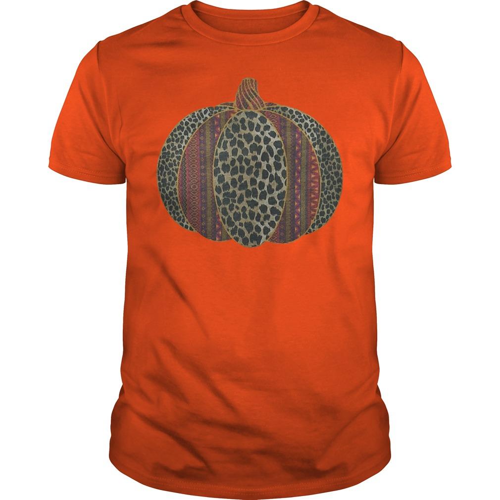 Black Leopard Aztec Pumpkin Shirt