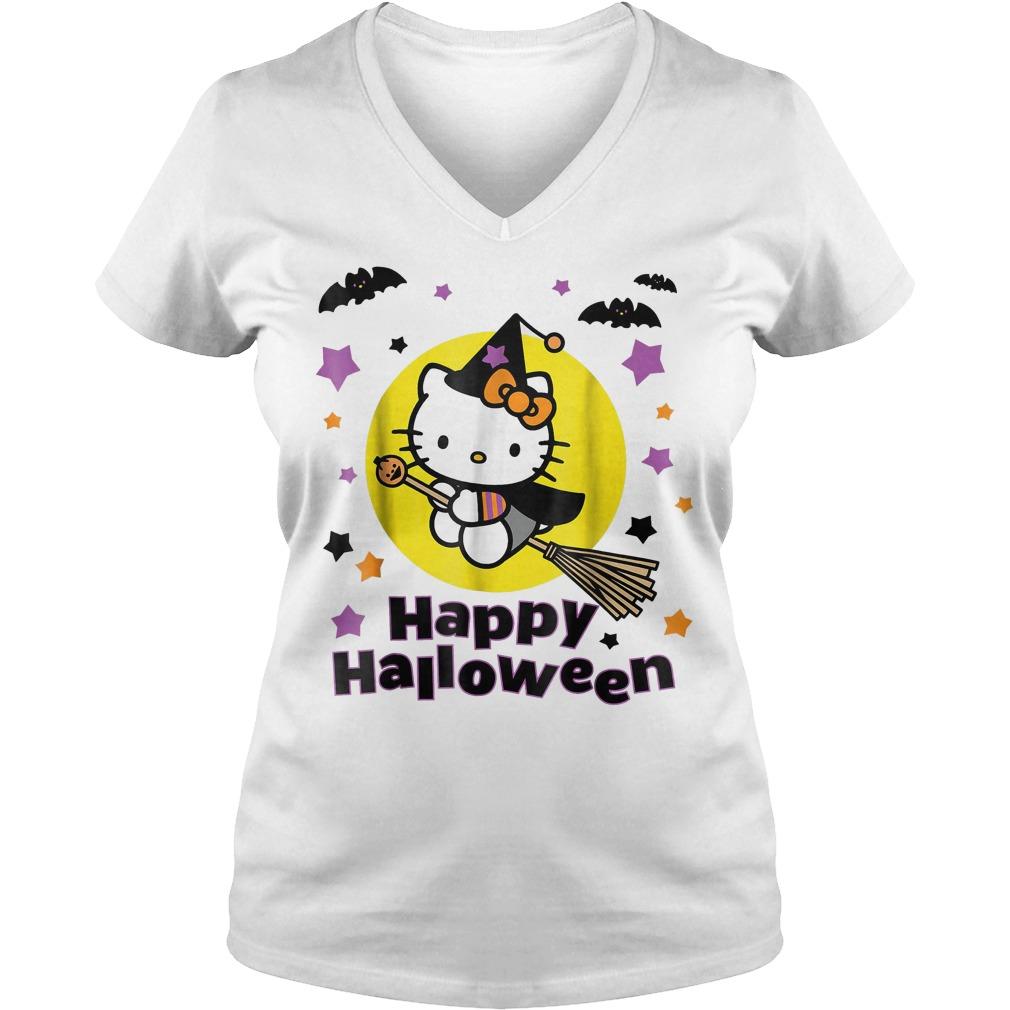 Hello Kitty Happy Halloween shirt Ladies V-Neck