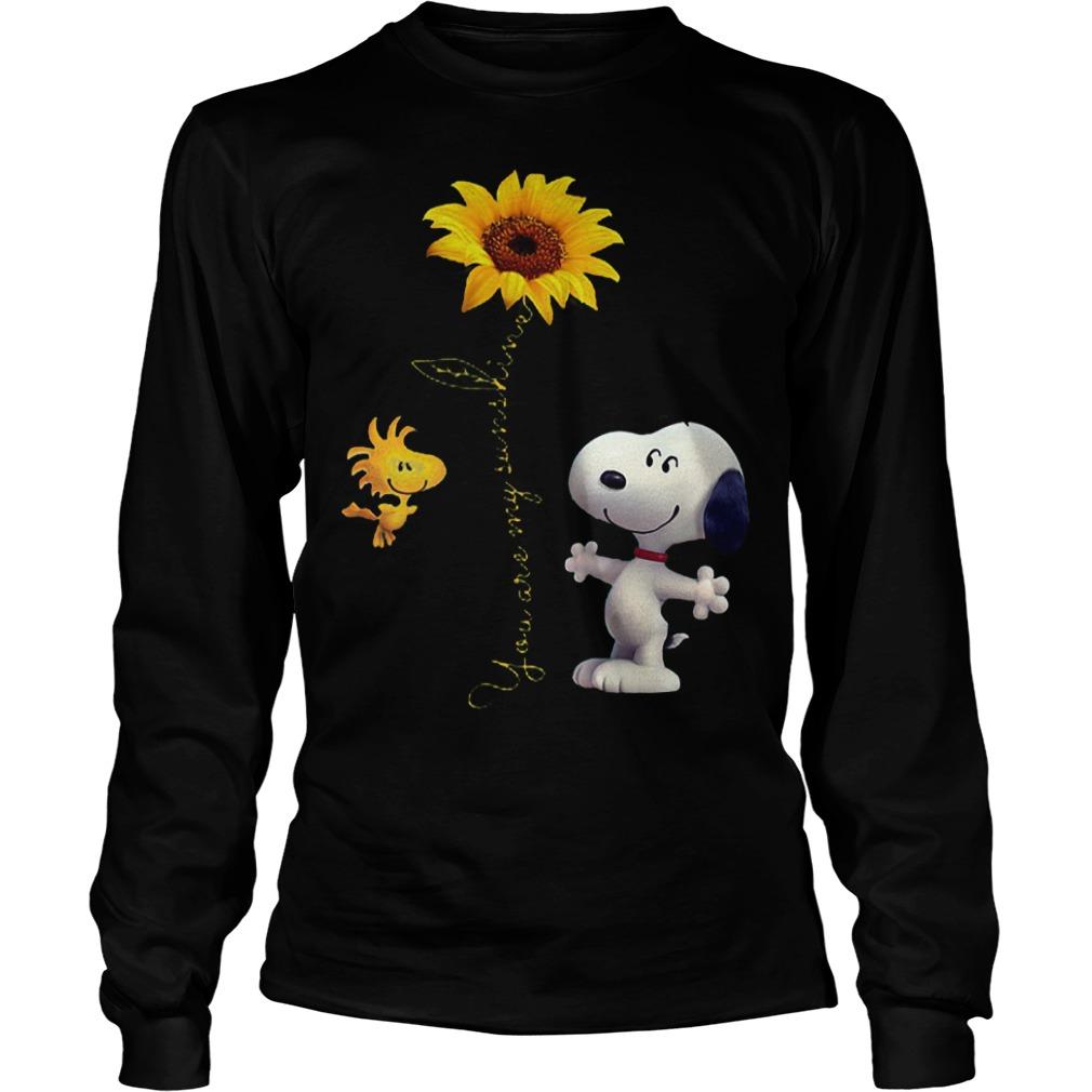 Original Sunflowers and Snoopy You are my sunshine Shirt Longsleeve Tee Unisex