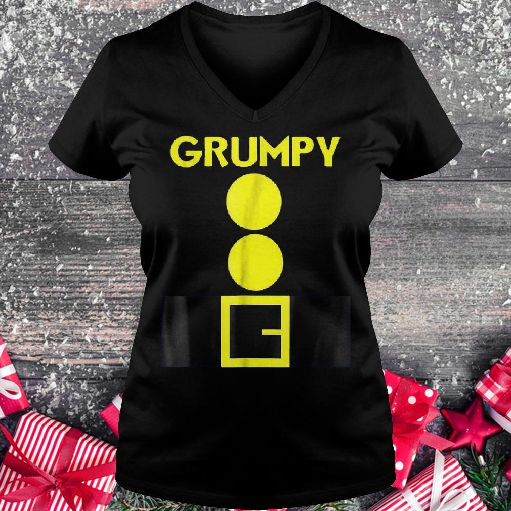 Halloween dwarf matching group Grumpy shirt Ladies V-Neck