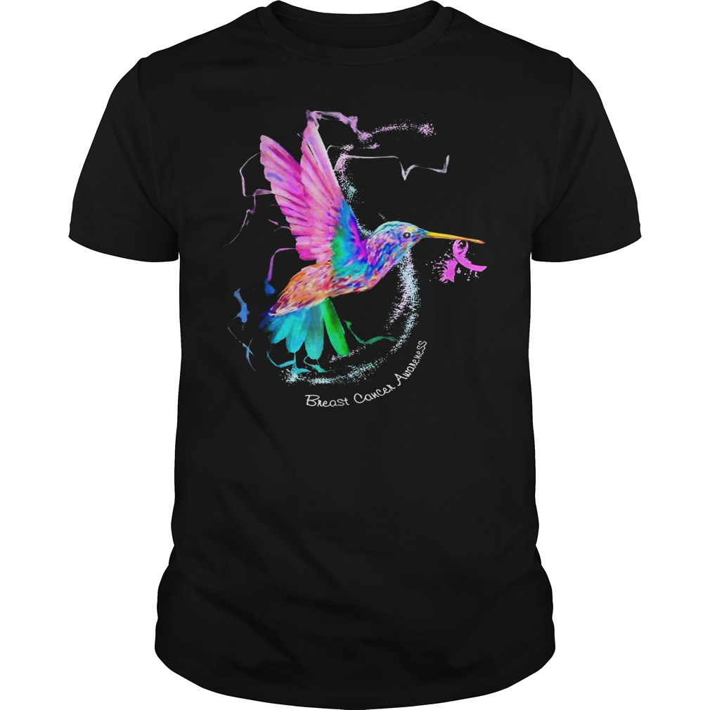 Hummingbird ribbon breast cancer awareness shirt
