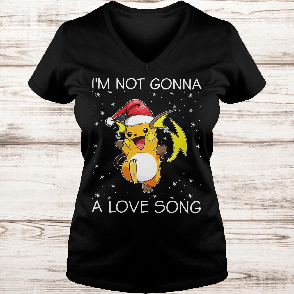 I'm not gonna Raichu a love song Ladies V-Neck
