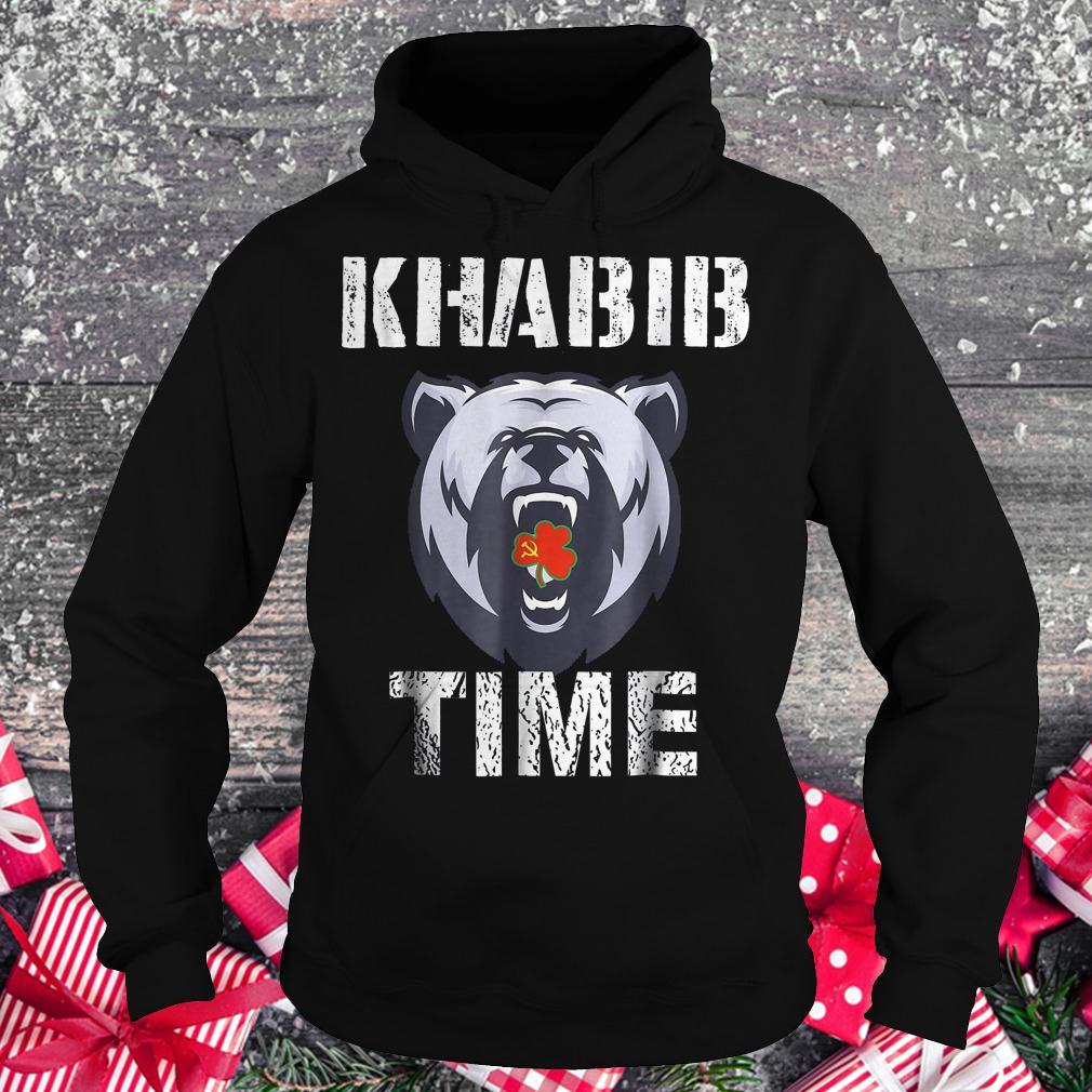 Khabib time bear shirt Hoodie