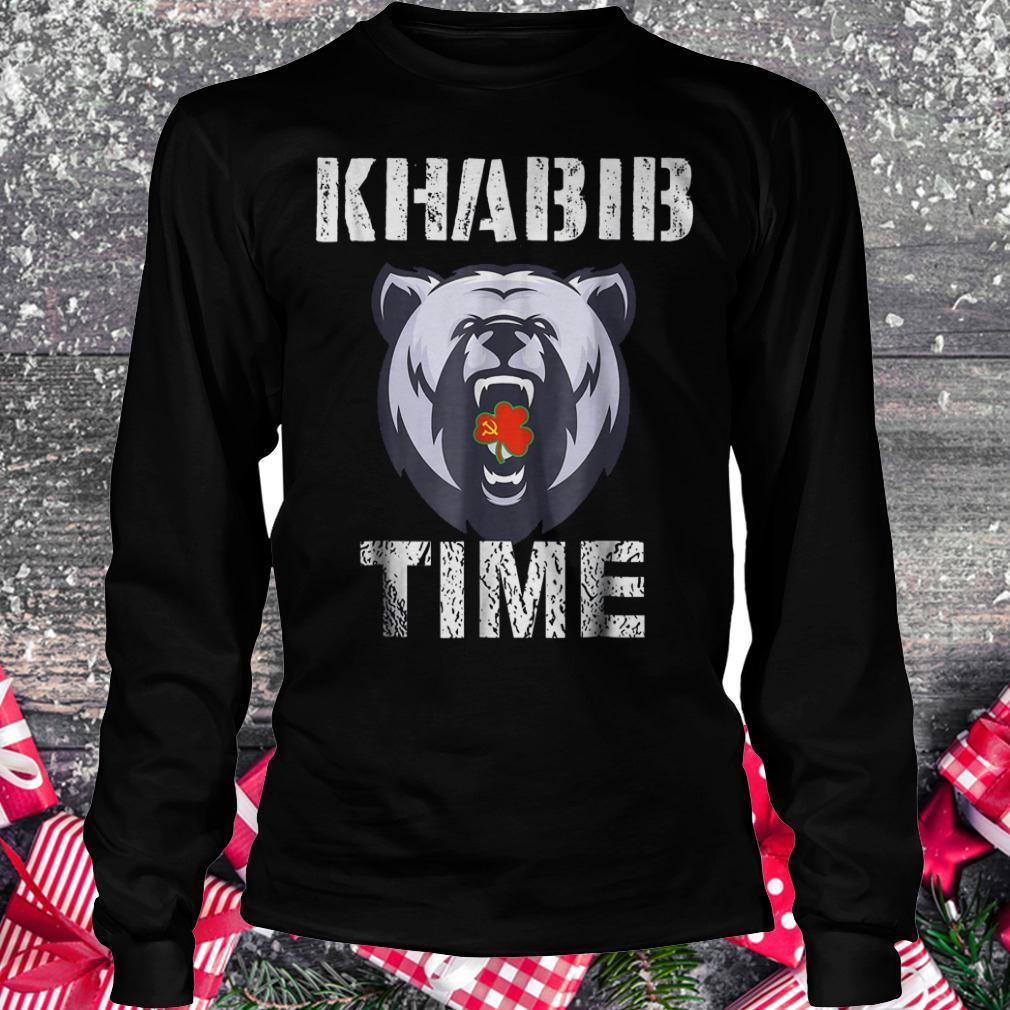 Khabib time bear shirt Longsleeve Tee Unisex