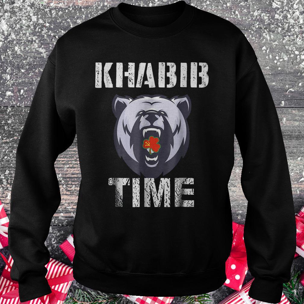 Khabib time bear shirt Sweatshirt Unisex