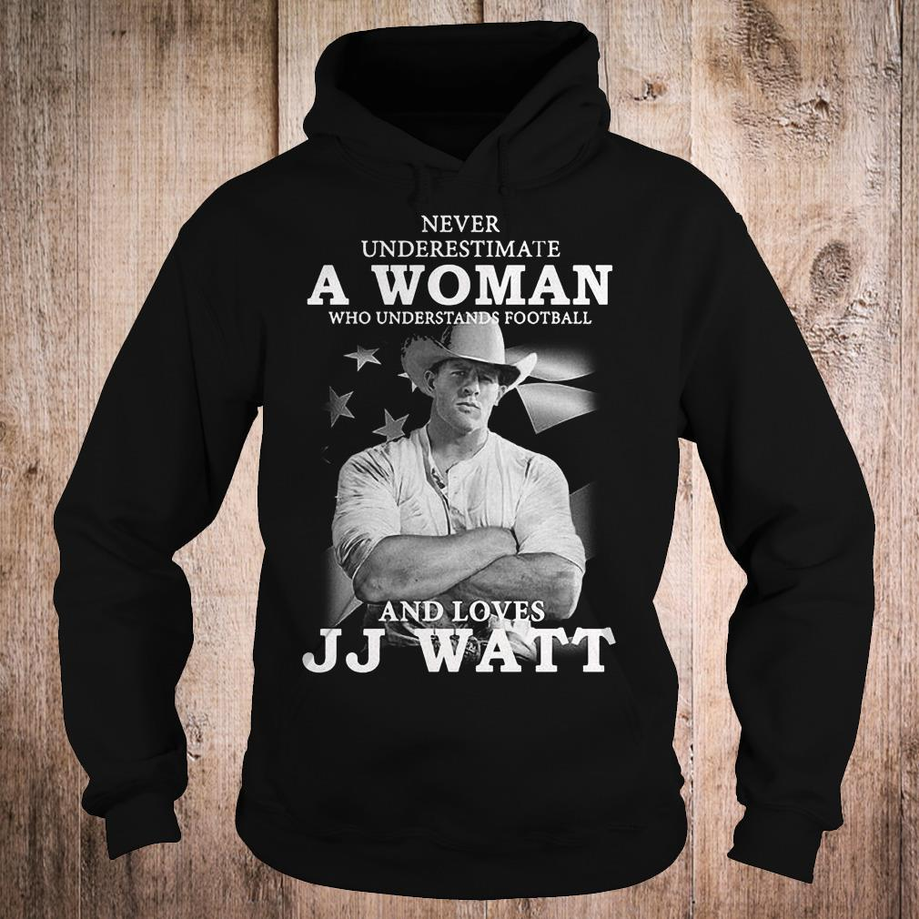 Never underestimate a woman who underestands football and loves JJ watt shirt Hoodie