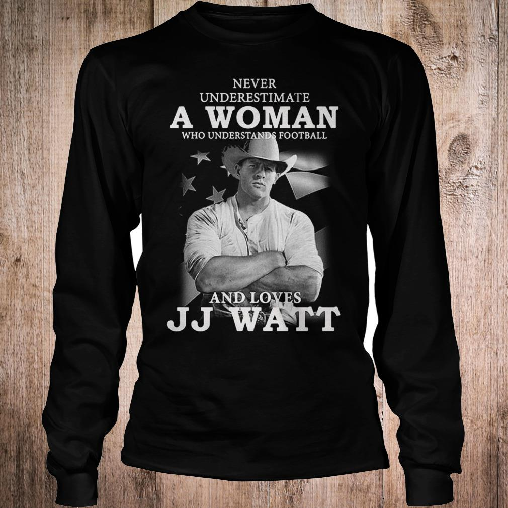 Never underestimate a woman who underestands football and loves JJ watt shirt Longsleeve Tee Unisex