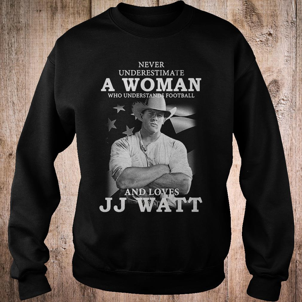 Never underestimate a woman who underestands football and loves JJ watt shirt Sweatshirt Unisex