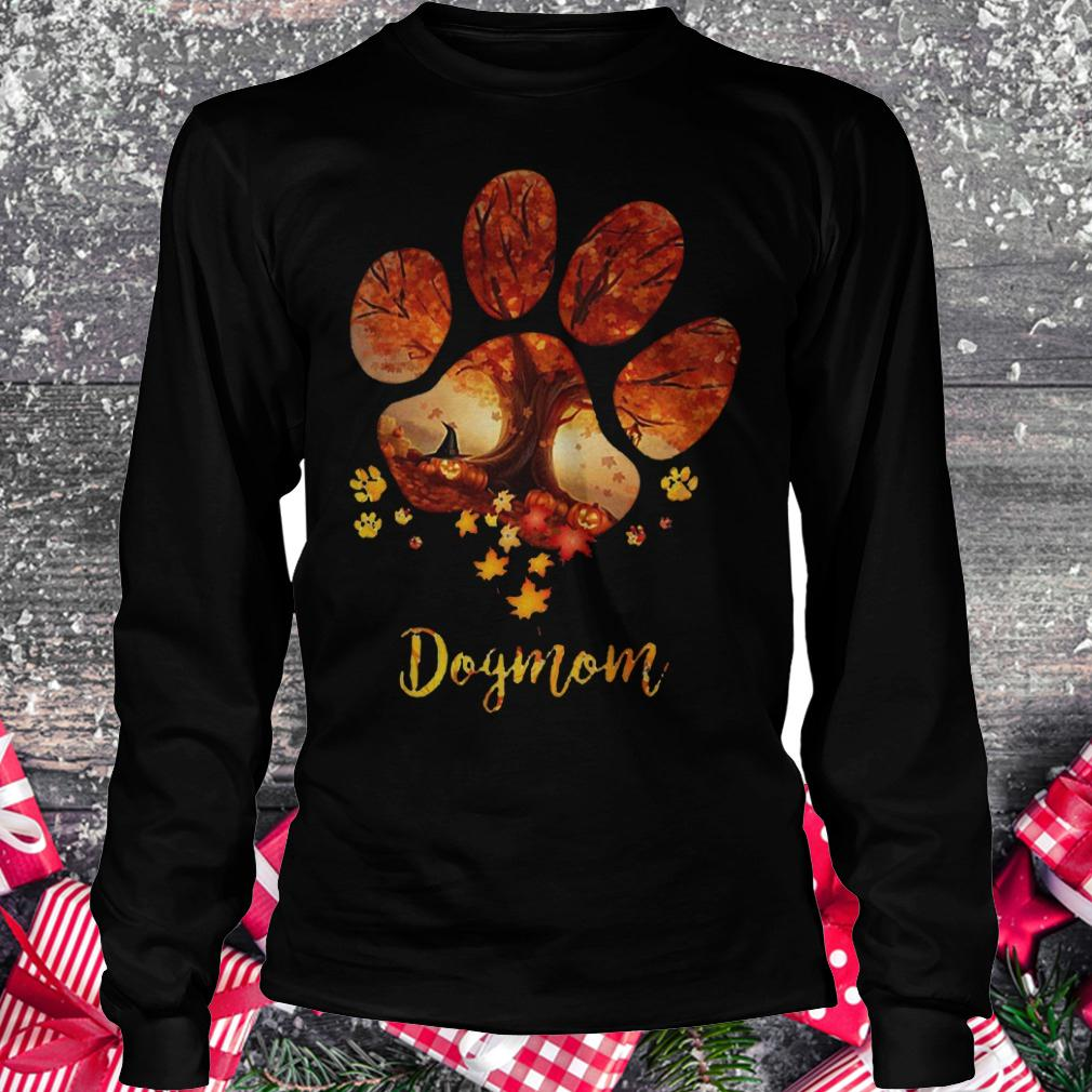 Paw dogmom halloween tree shirt Longsleeve Tee Unisex