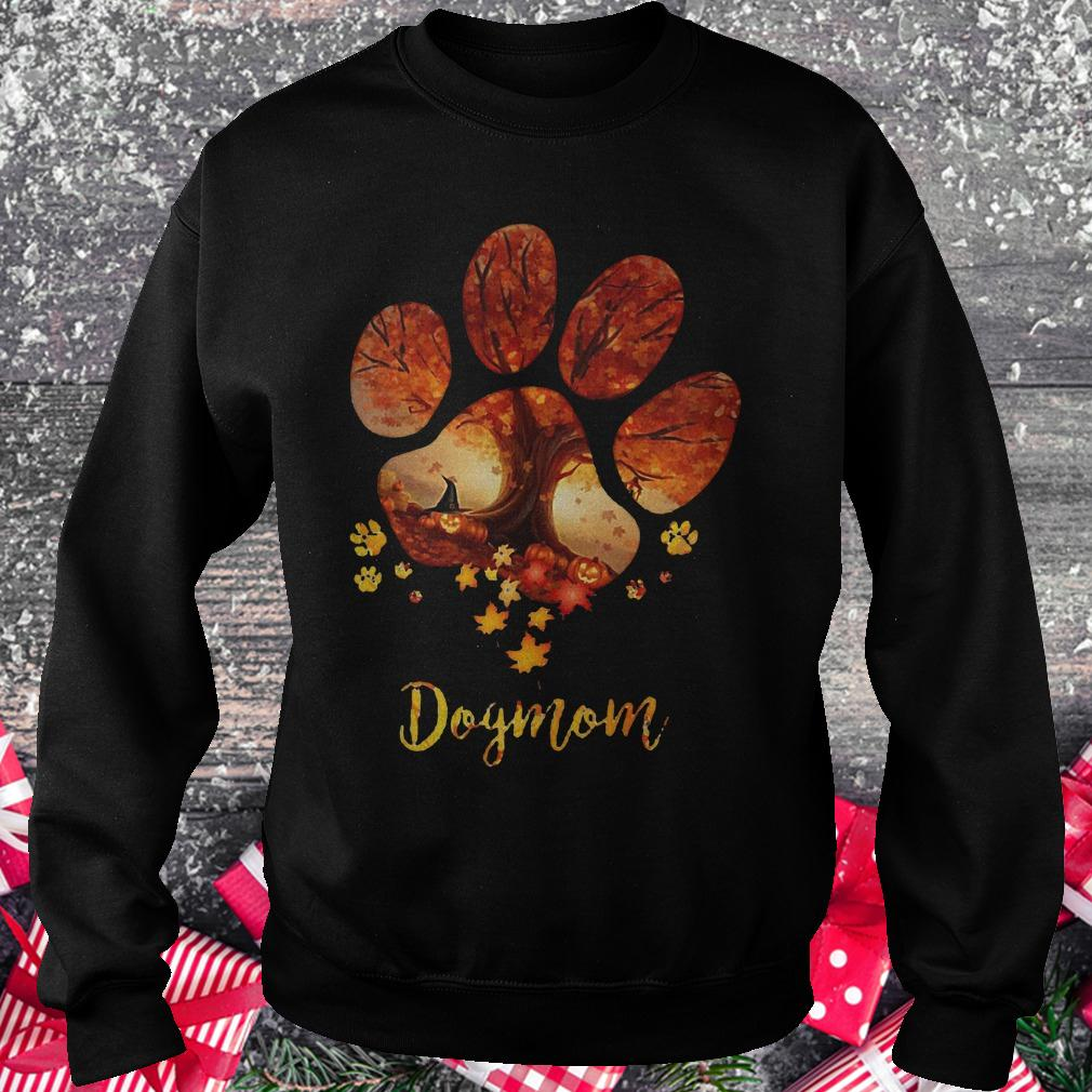 Paw dogmom halloween tree shirt Sweatshirt Unisex