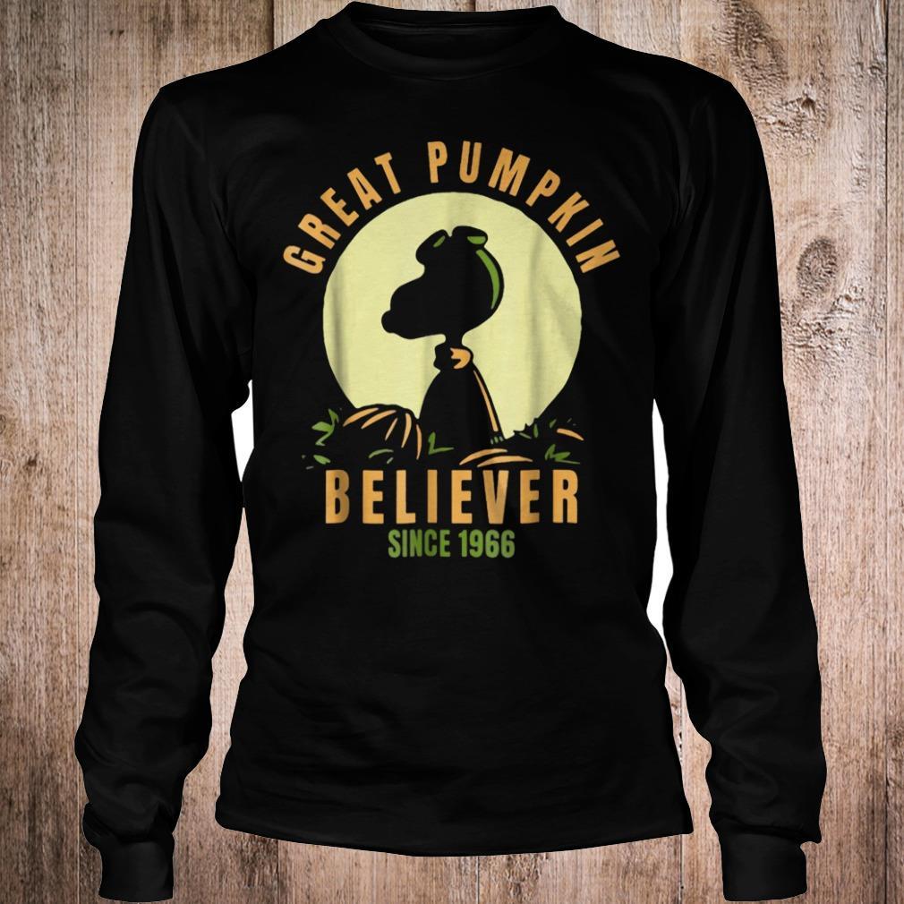 Peanuts great pumpkin believer since1966 halloween shirt Longsleeve Tee Unisex