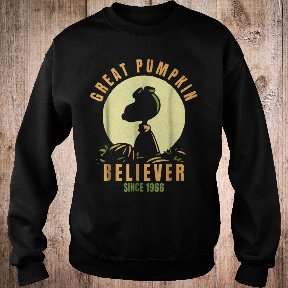 Peanuts great pumpkin believer since1966 halloween shirt Sweatshirt Unisex