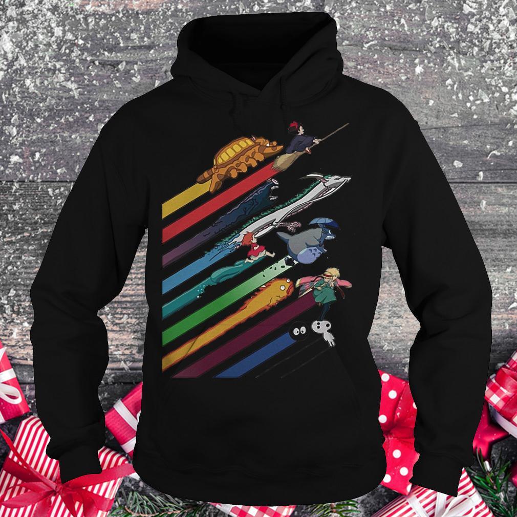 Rainbow Studio Ghibli shirt Hoodie