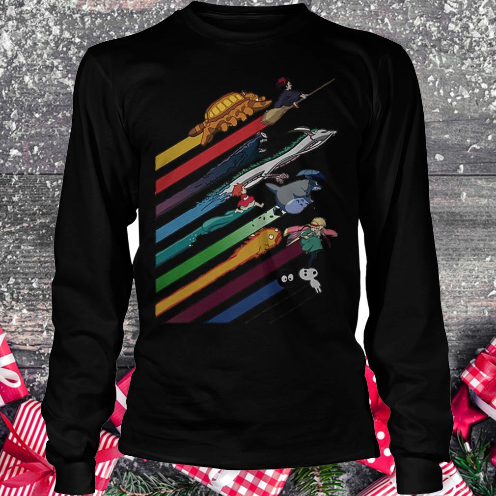 Rainbow Studio Ghibli shirt Longsleeve Tee Unisex