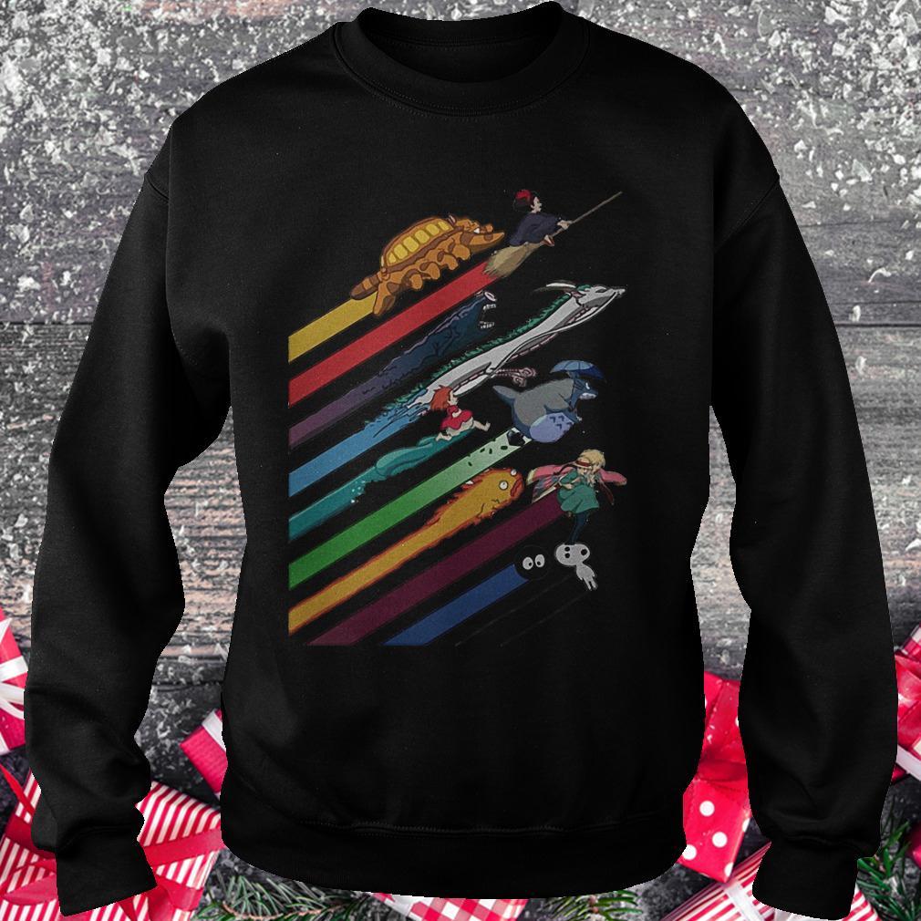 Rainbow Studio Ghibli shirt Sweatshirt Unisex
