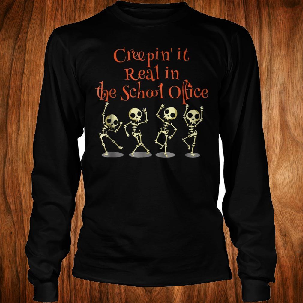 School office Clerk Creepin it real halloween teacher shirt Longsleeve Tee Unisex