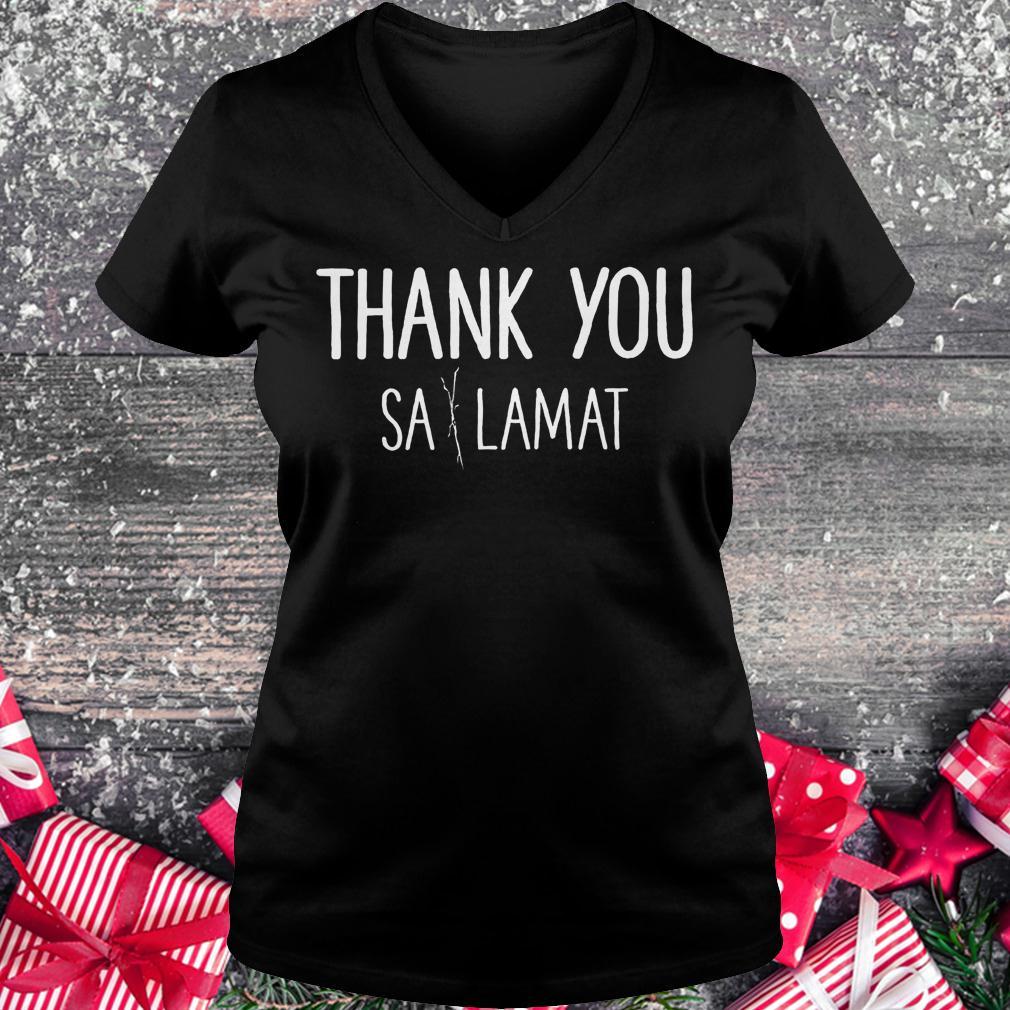Thank you Sa Lamat shirt Ladies V-Neck