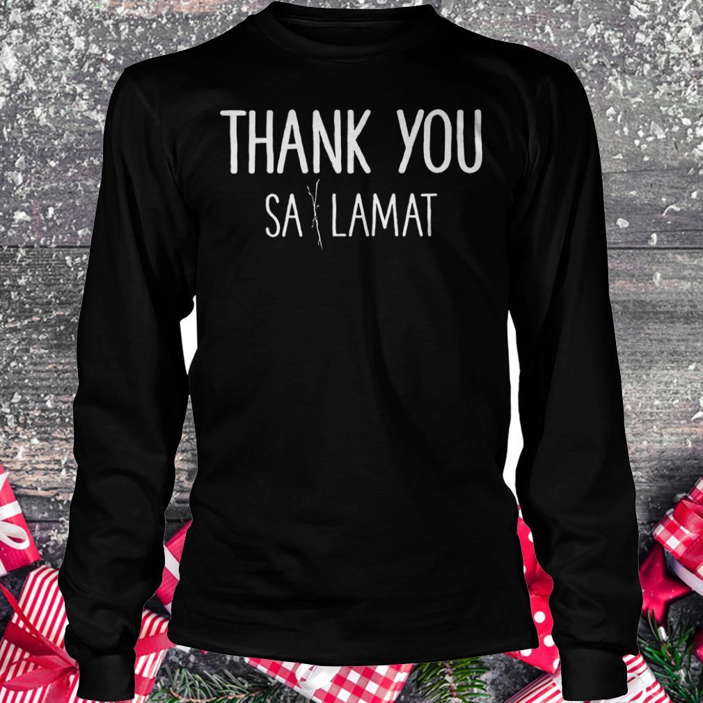 Thank you Sa Lamat shirt Longsleeve Tee Unisex