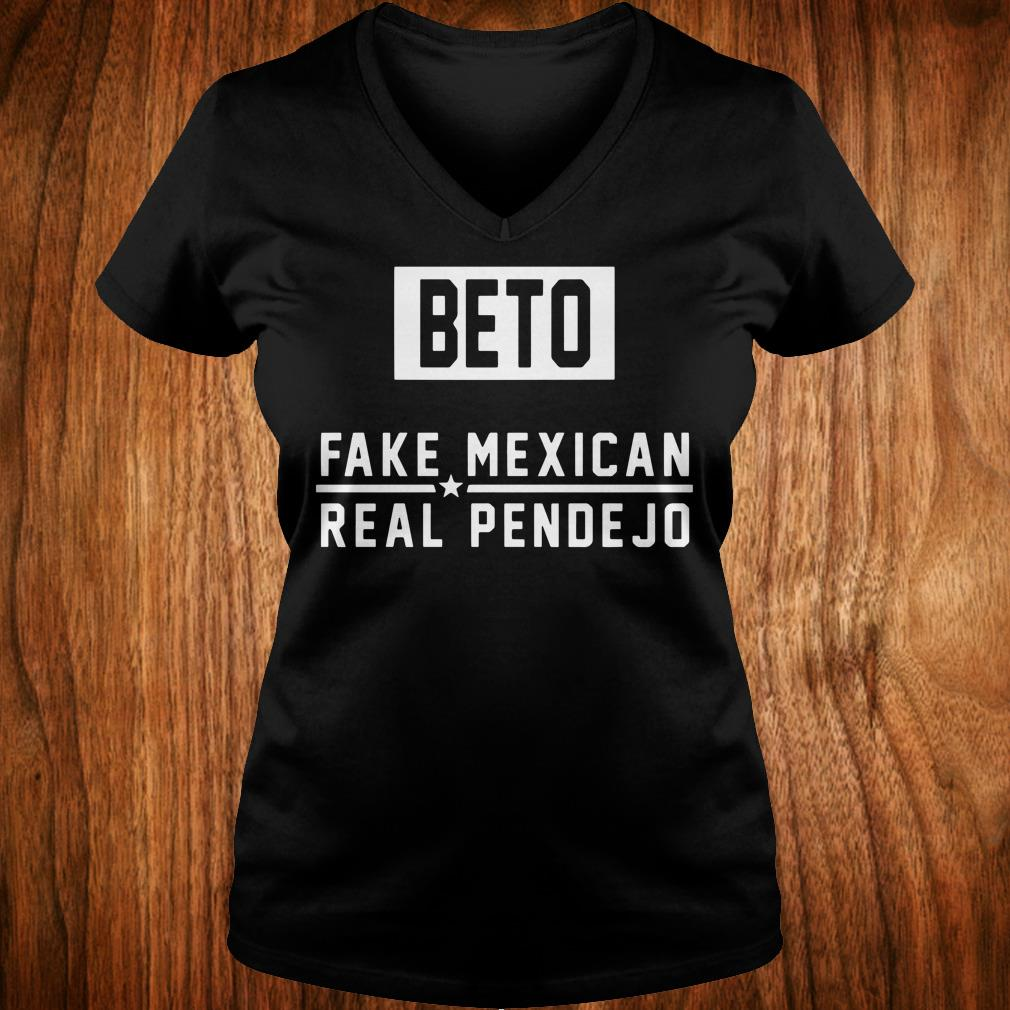 The Best Beto Fake Mexican Real Pende Jo shirt Ladies V-Neck