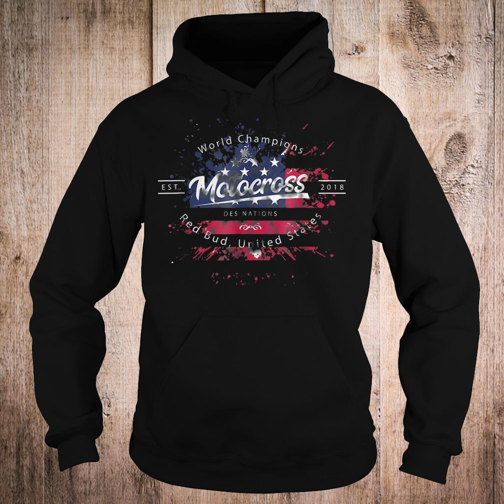 World champion motocross des nations red bud united states shirt Hoodie