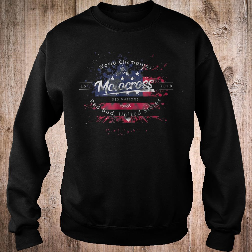 World champion motocross des nations red bud united states shirt Sweatshirt Unisex