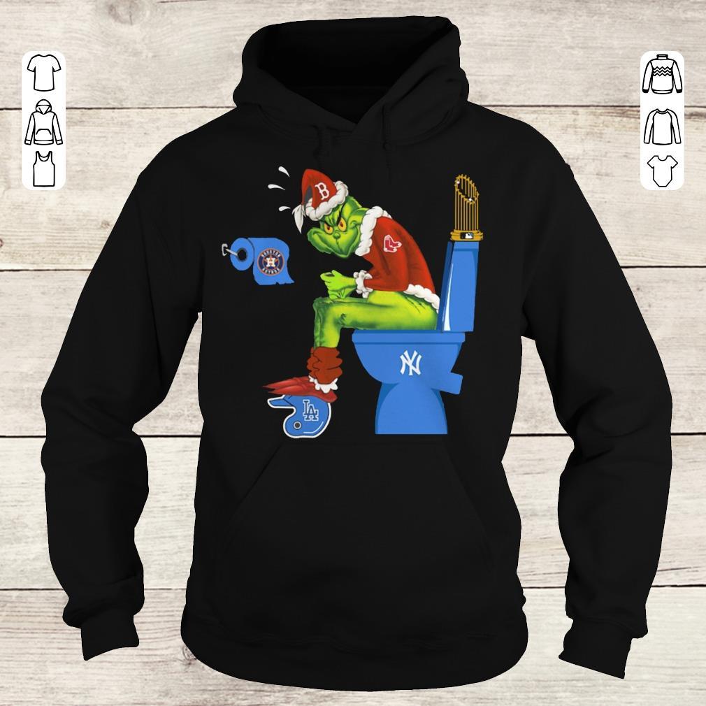 Awesome Boston Red Sox Grinch Santa New York Yankees Toilet shirt Hoodie