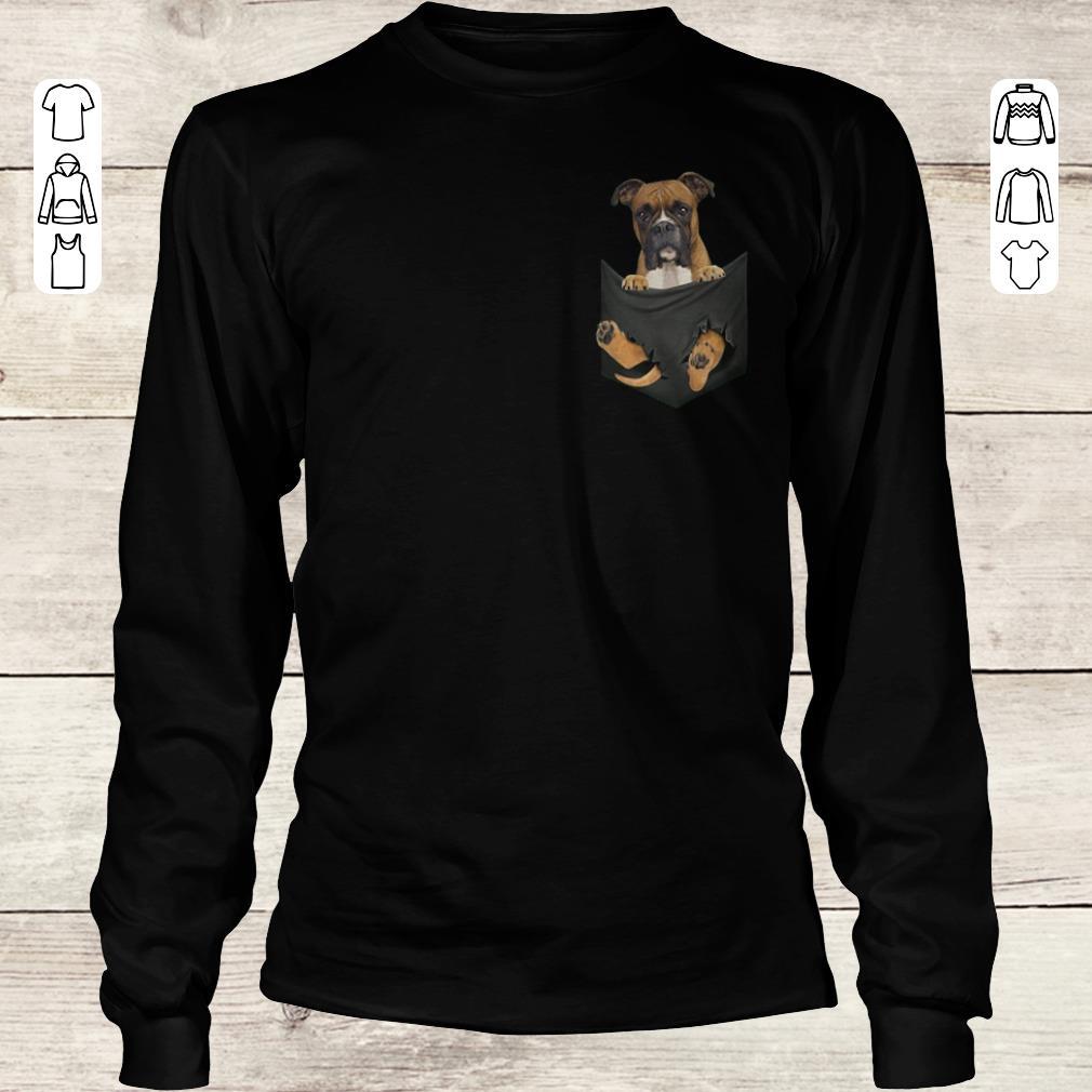 Awesome Boxer Tiny Pocket shirt Longsleeve Tee Unisex