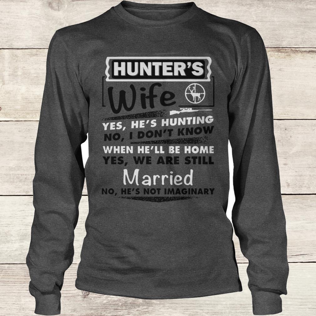 Awesome Hunter's Wife Shirt Longsleeve Tee Unisex
