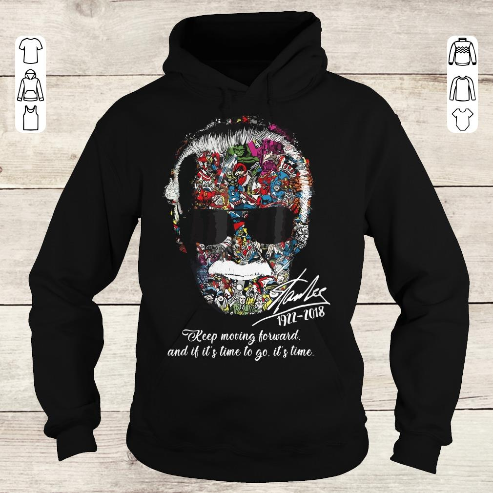 Awesome Stan Lee keep moving forward and it's time to go sweater Hoodie