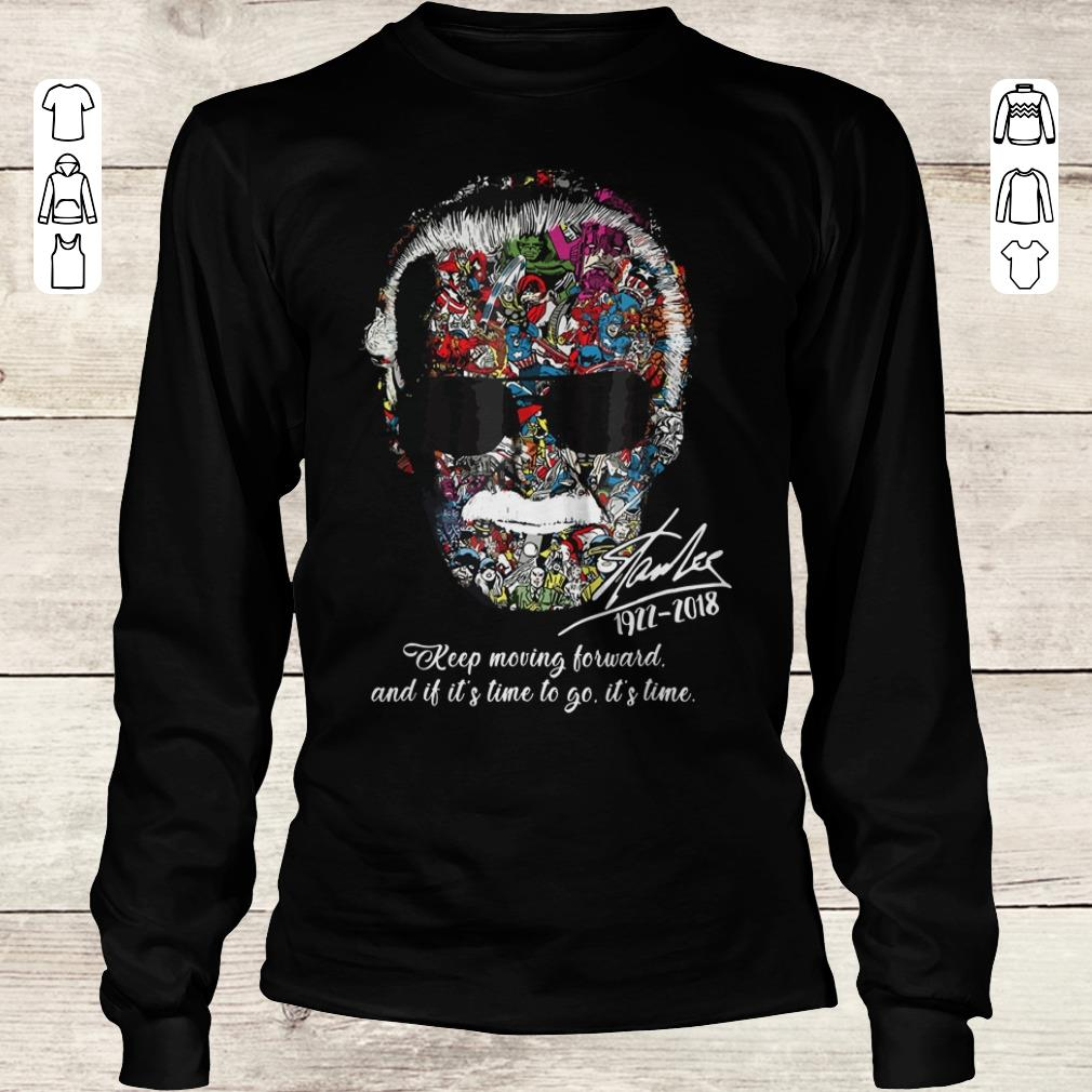 Awesome Stan Lee keep moving forward and it's time to go sweater Longsleeve Tee Unisex