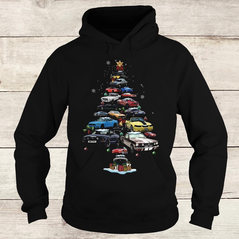 Best Price On Christmas Trees: Best Price Mustang Car Christmas Tree Sweatshirt, Hoodie