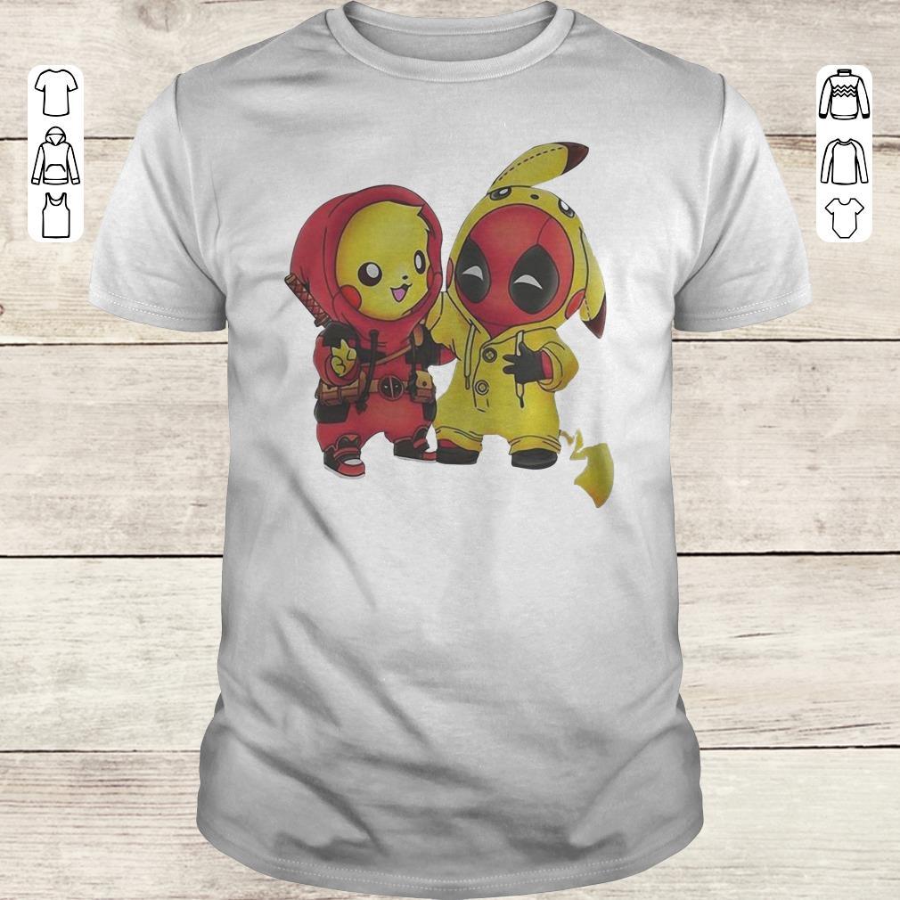 Funny Pokemon Pikachu And Deadpool Shirt Classic Guys Unisex Tee.jpg