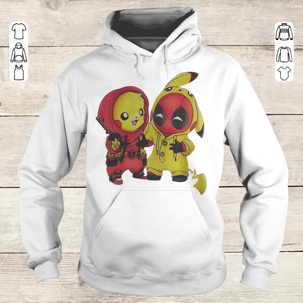 Funny Pokemon Pikachu and Deadpool shirt Hoodie