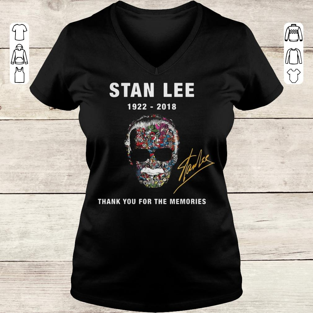 Funny Stan Lee thank you for the memories sweatshirt Ladies V-Neck