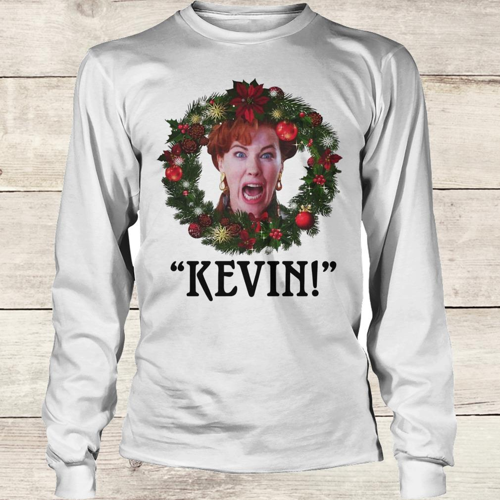 Home alone hot women Hot Christmas Wreath Home Alone Kevin Scream Shirt Hoodie Sweater Longsleeve T Shirt