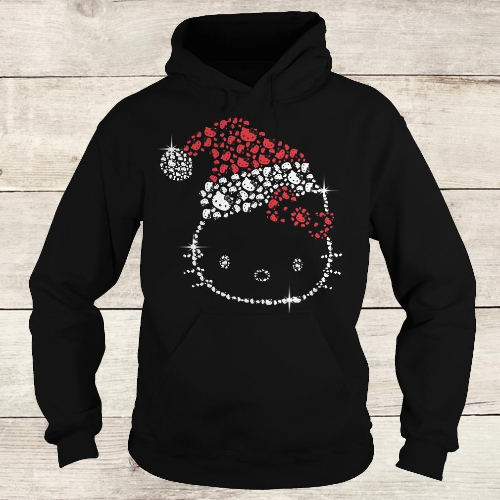 Hot Hello Kitty Santa Hat Rhinestone shirt