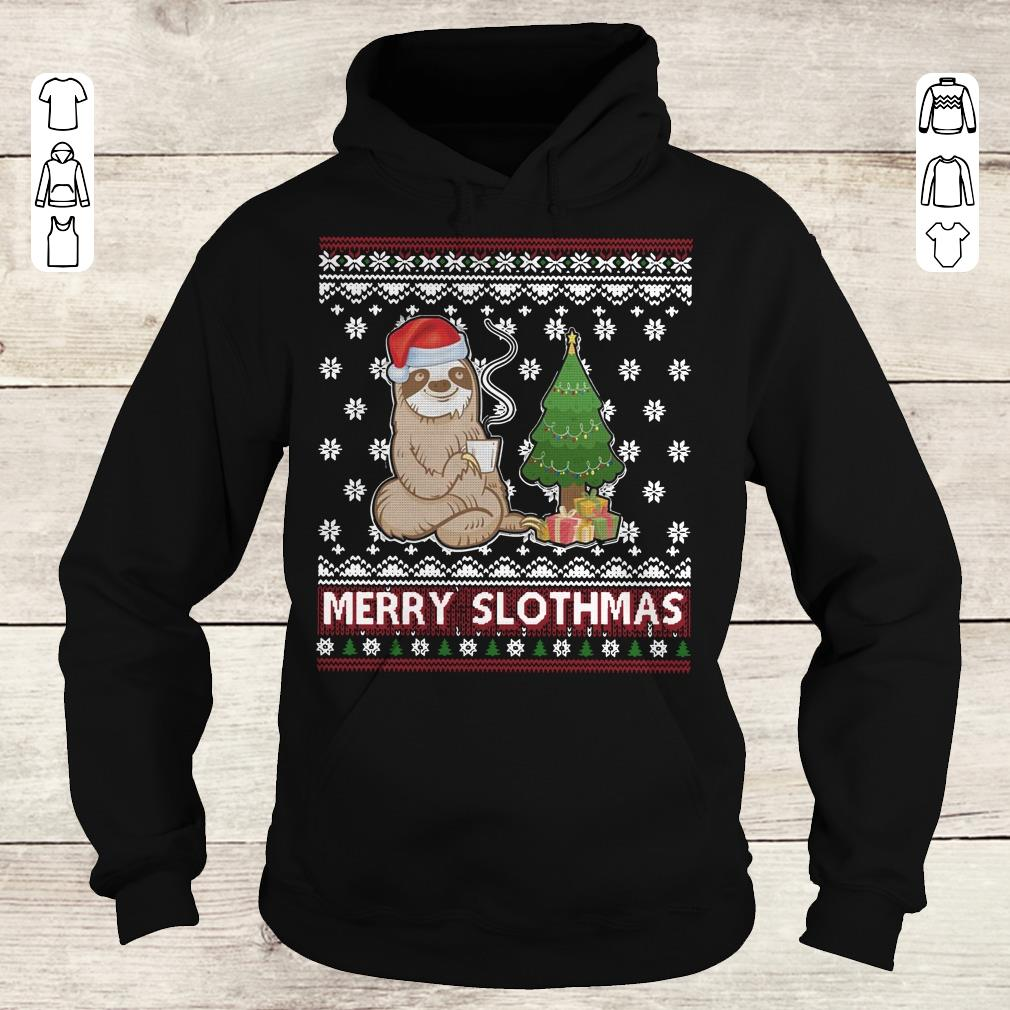 Hot Merry Slothmas sweater shirt Hoodie