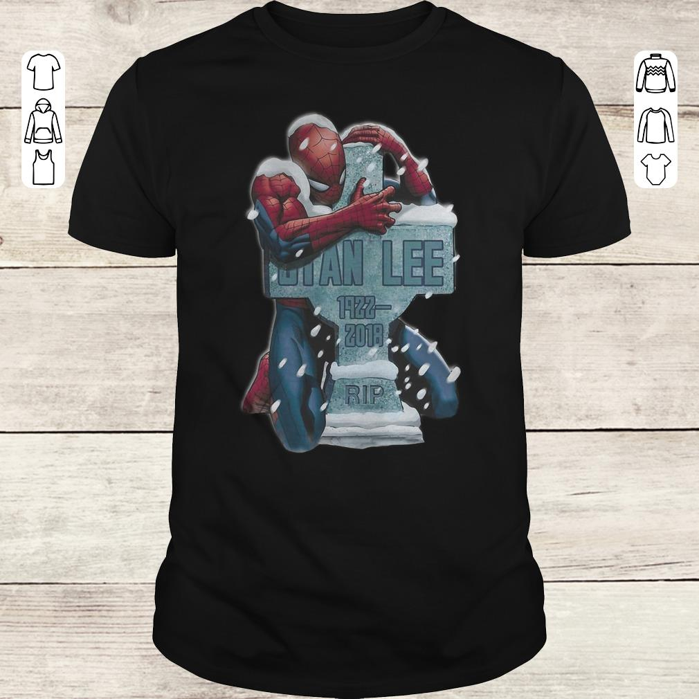 Hot Spider Man Hug Grave Stan Lee Shirt Classic Guys Unisex Tee.jpg