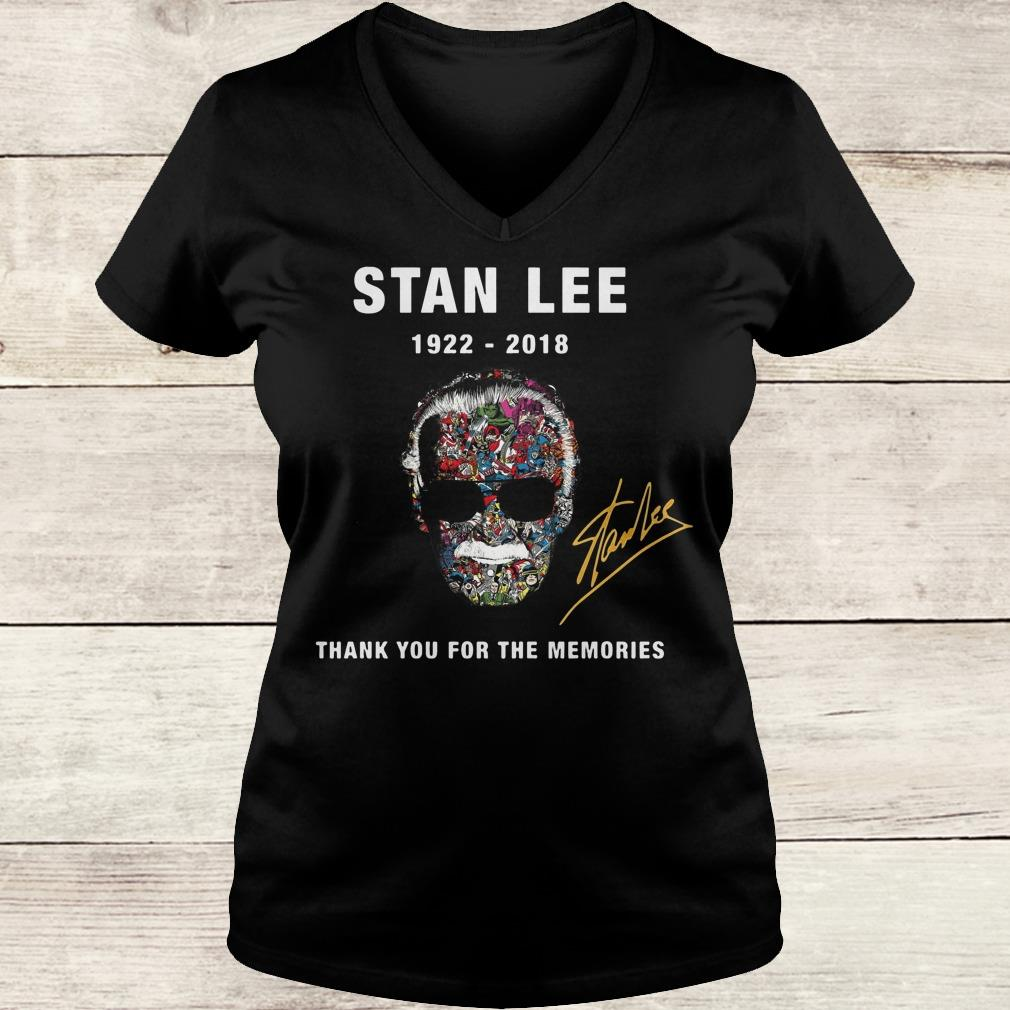 Hot Stan Lee thank you for the memories Shirt Ladies V-Neck