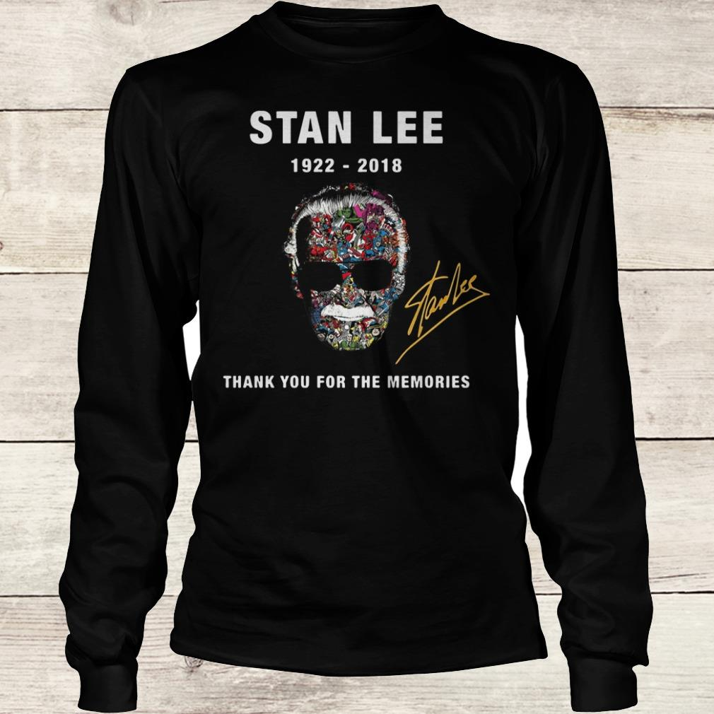 Hot Stan Lee thank you for the memories Shirt Longsleeve Tee Unisex