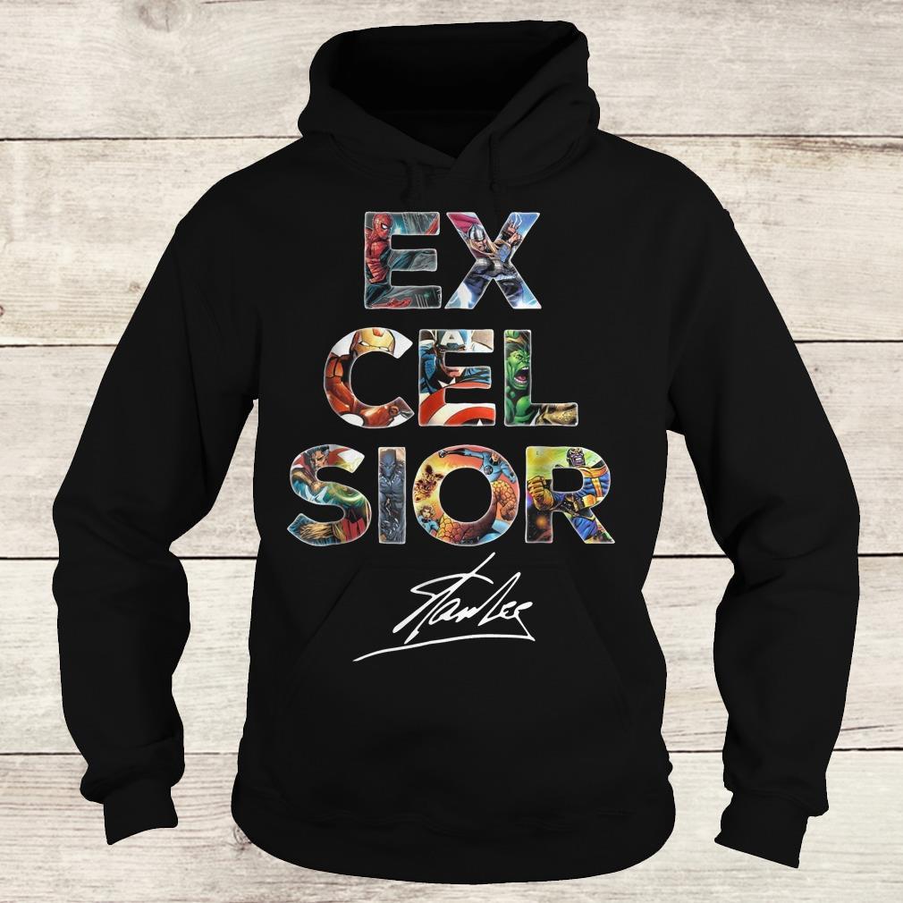 Nice Excelsior Stan Lee Signature shirt Hoodie