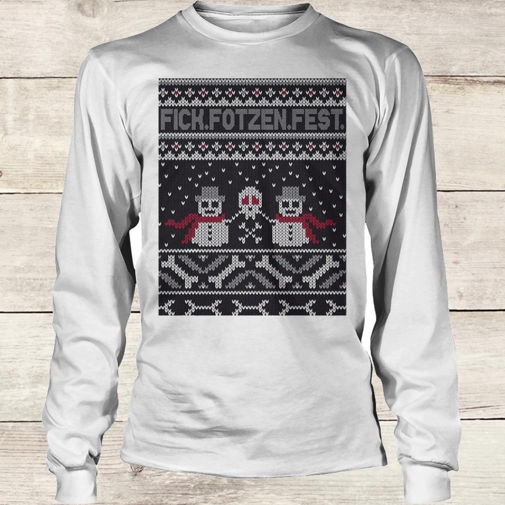 Nice Fick Fotzen Fest Ugly Sweater Longsleeve Tee Unisex