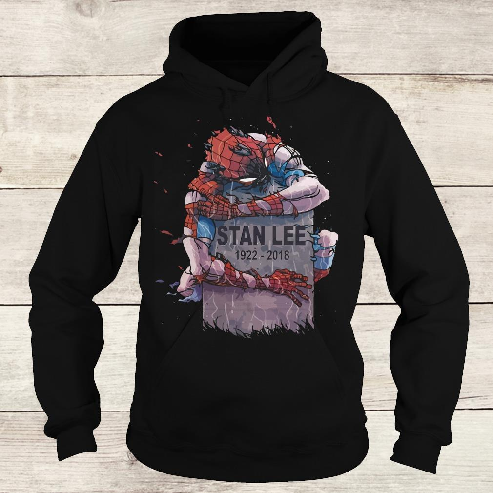 Nice Spider Man hug Stan Lee Shirt Hoodie