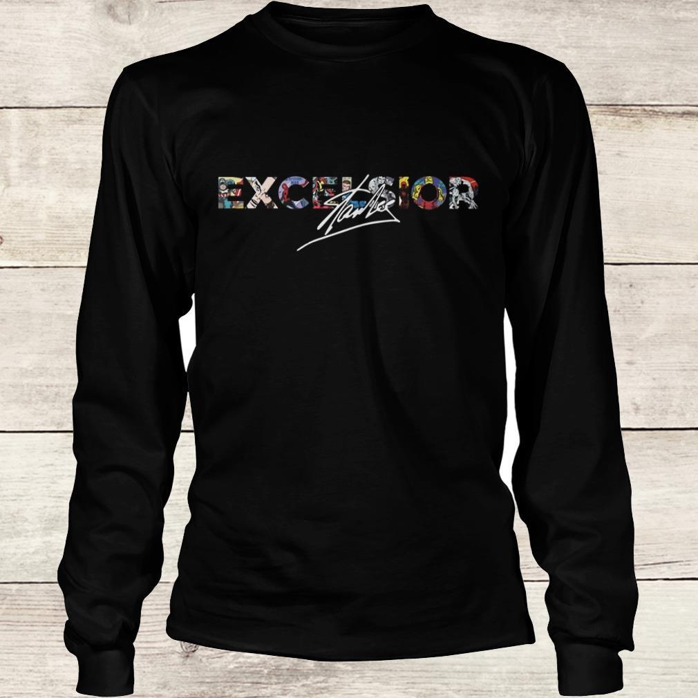 Nice Stan Lee Excelsior Shirt Longsleeve Tee Unisex