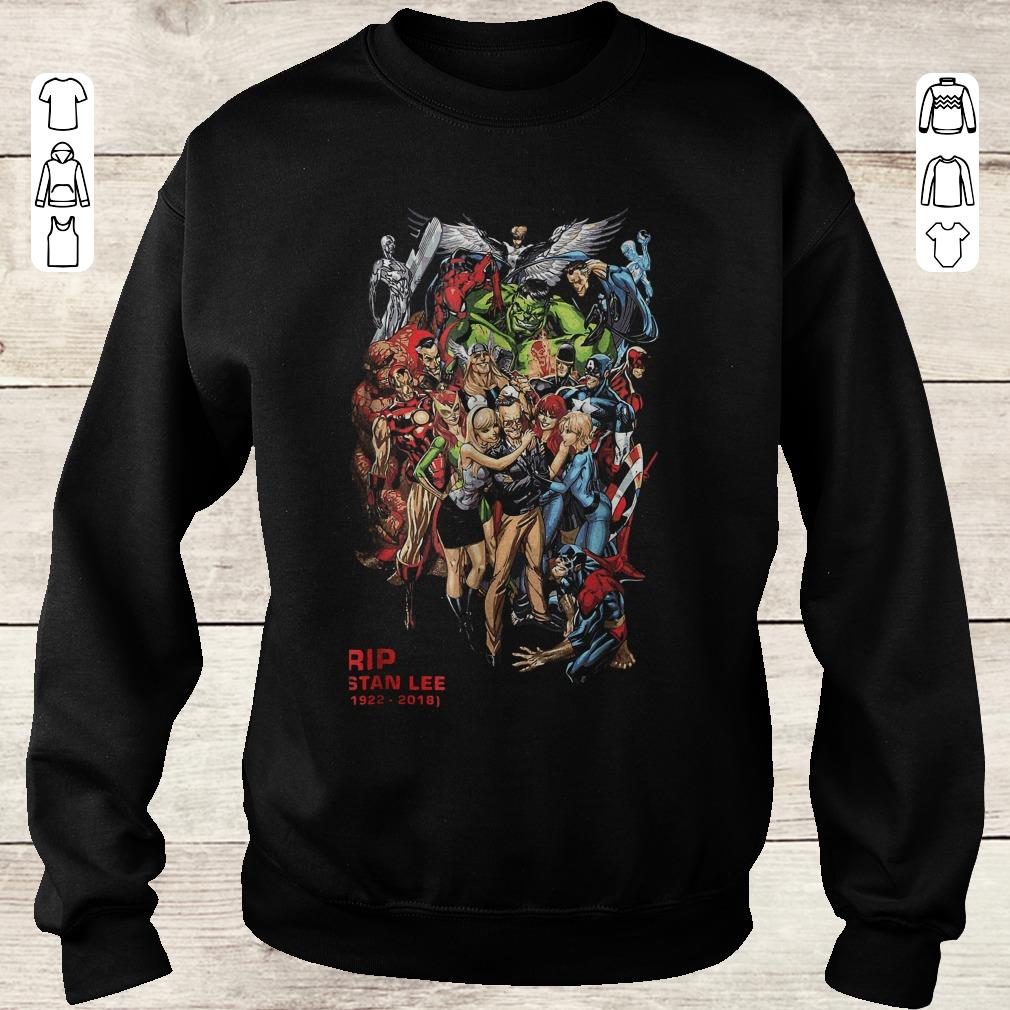 Nice Stan Lee With Avenger Characters And Fan Graphic Sweater Sweatshirt Unisex.jpg