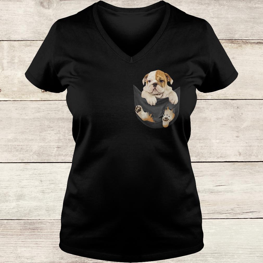 Official Bulldog Tiny Pocket shirt Ladies V-Neck