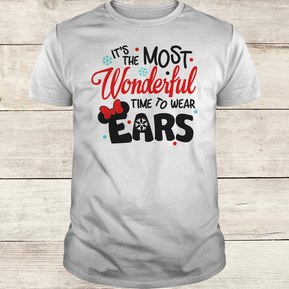 Official Disney It's The Most Wonderful Time To Wear Ears shirt Classic Guys / Unisex Tee