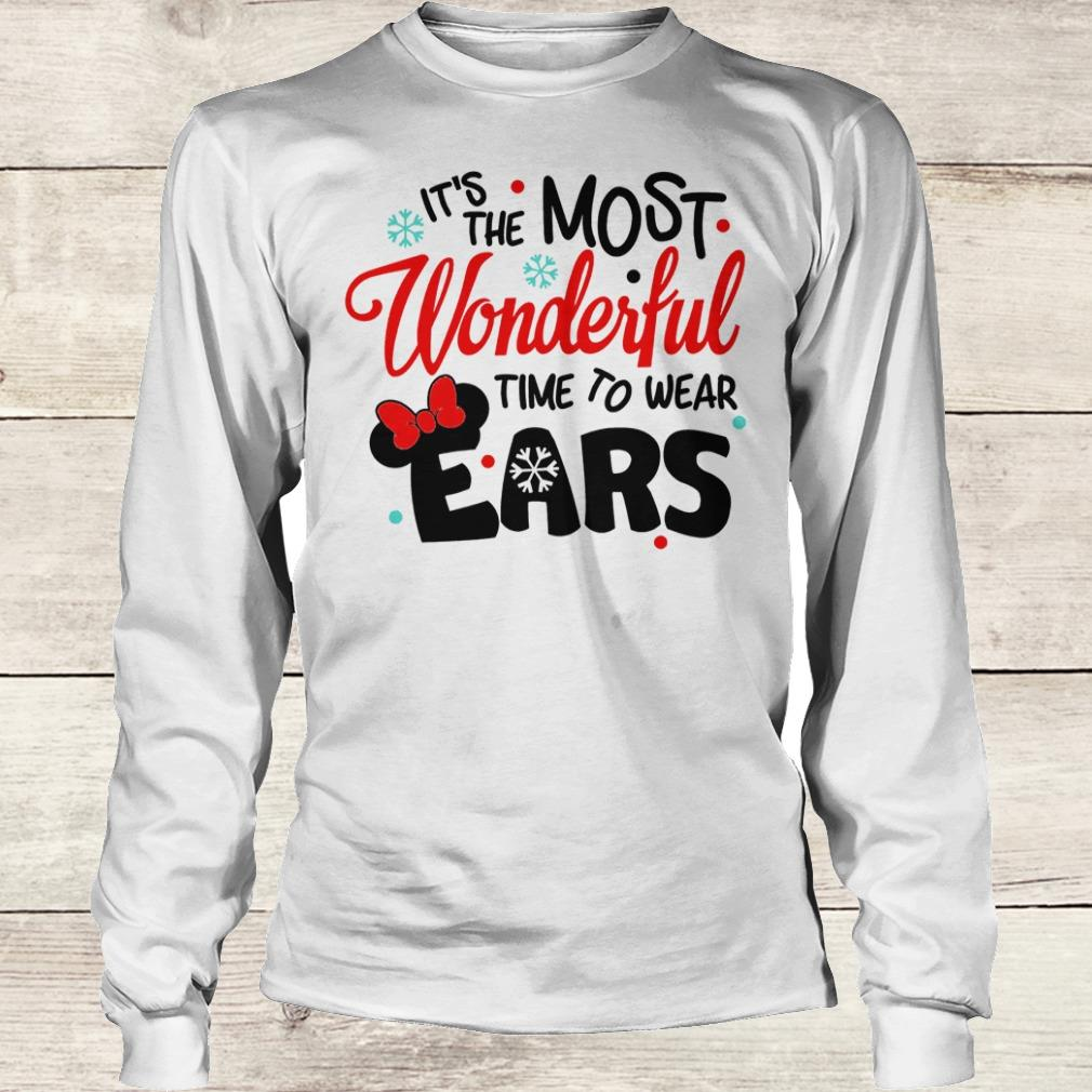 Official Disney It's The Most Wonderful Time To Wear Ears shirt Longsleeve Tee Unisex