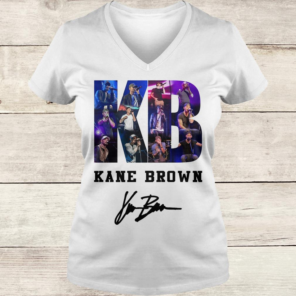 Official Kane Brown Signed Autograph shirt Ladies V-Neck