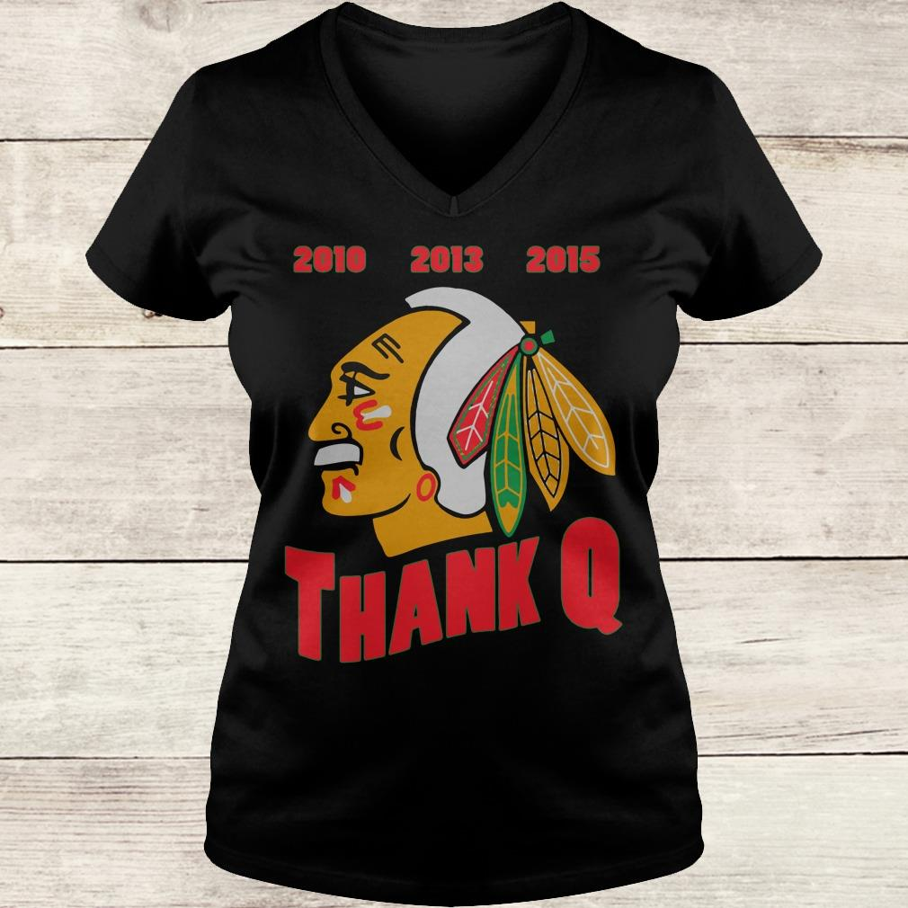 Official Thank you, Coach Q shirt Ladies V-Neck